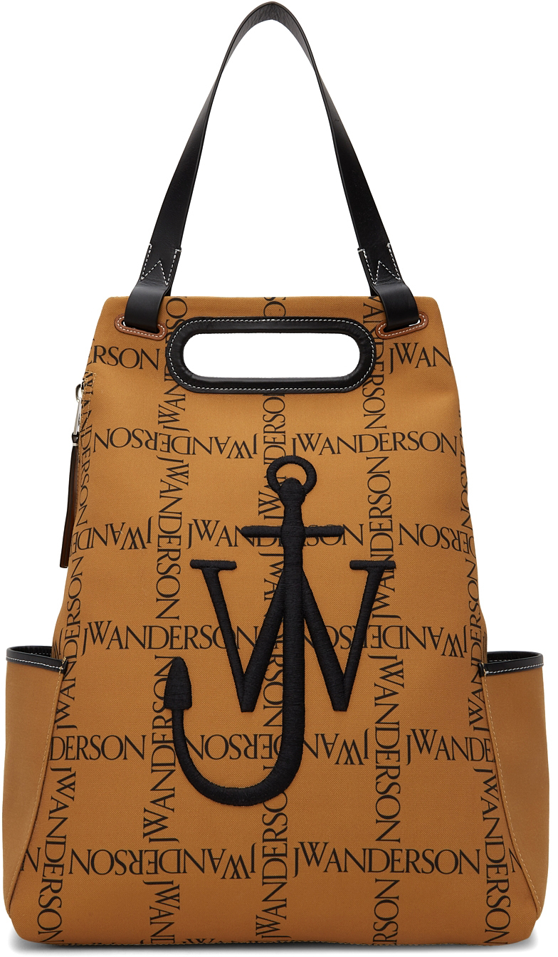 Photo: JW Anderson Tan Canvas Logo Anchor Backpack