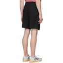 Raf Simons Black Turn-Up Shorts