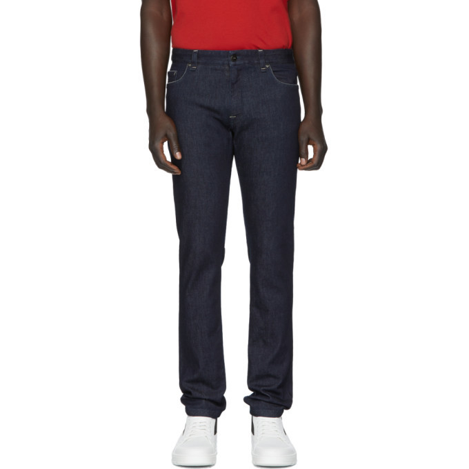 Photo: Fendi Indigo Stretch Slim Fit Jeans