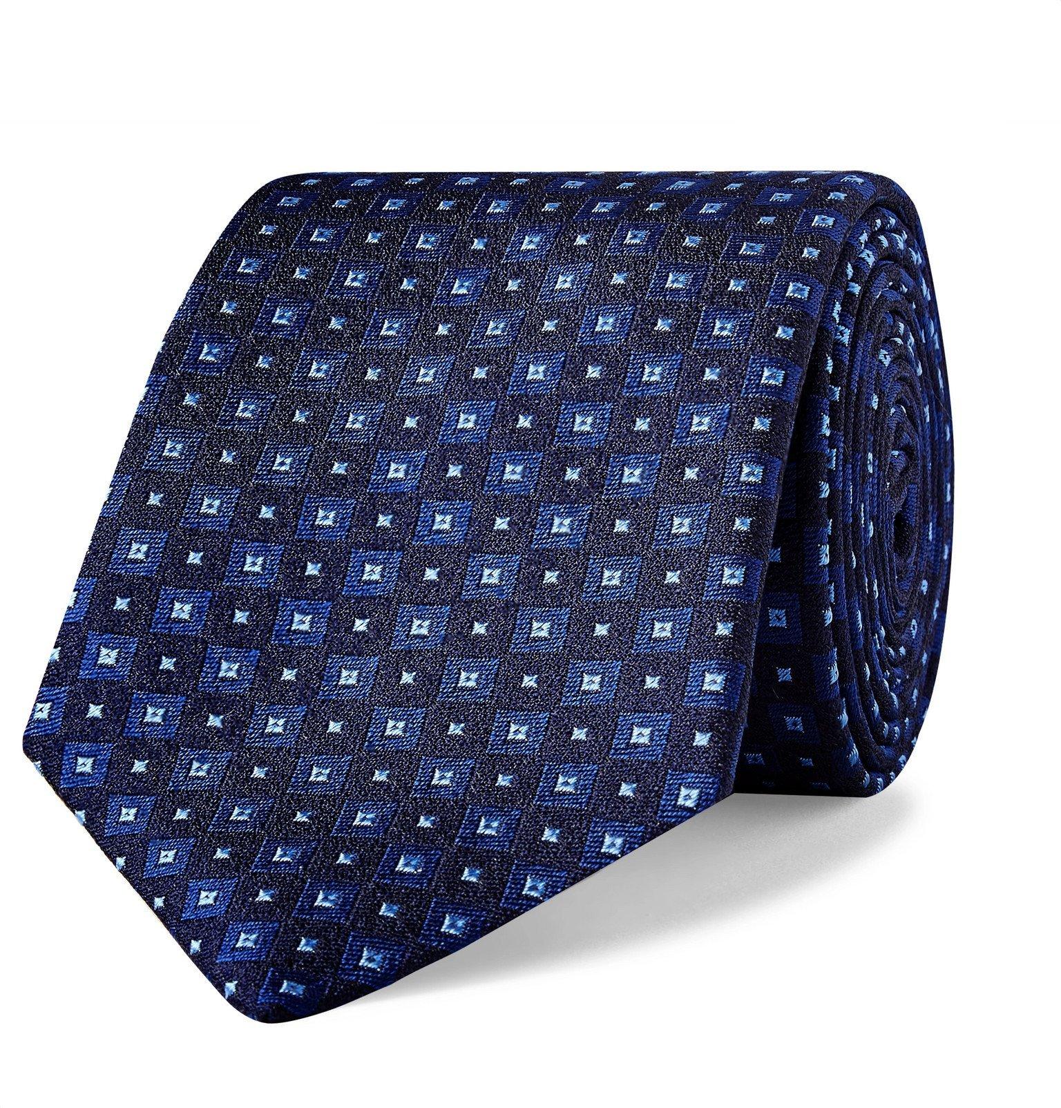 Photo: Turnbull & Asser - 8cm Silk-Jacquard Tie - Blue