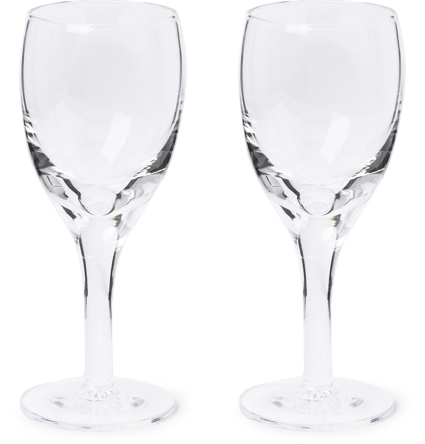 Photo: Kingsman - Higgs & Crick Set of Two Crystal Port Glasses - Neutrals