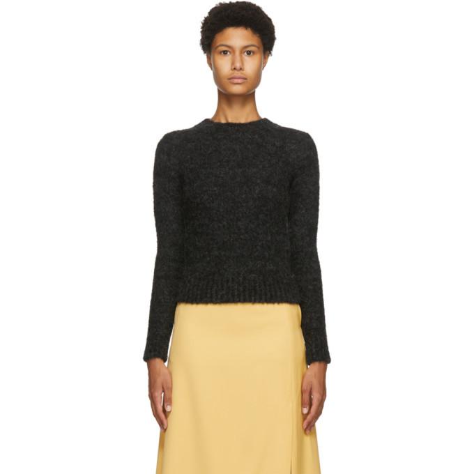 Photo: AURALEE Black Alpaca Wool Knit Pullover Sweater