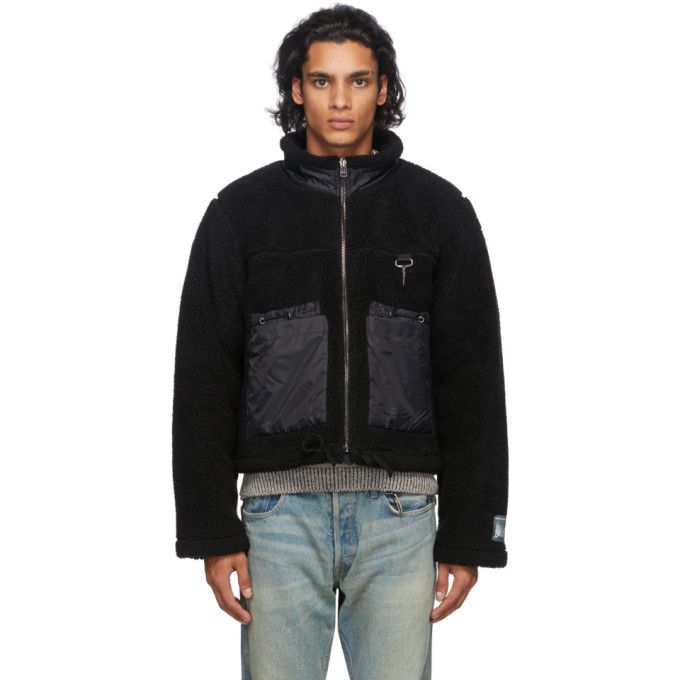 Photo: Reese Cooper Black Sherpa Zip-Up Sweater