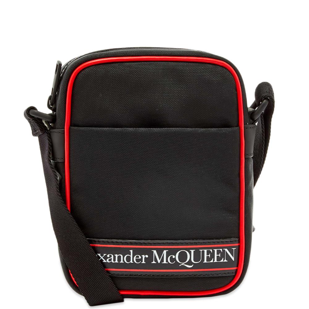 Photo: Alexander McQueen Taped Logo Mini Messenger Bag