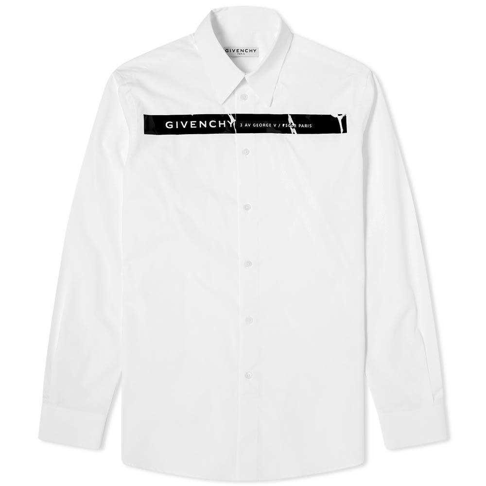 Photo: Givenchy Glossy Tape Logo Shirt