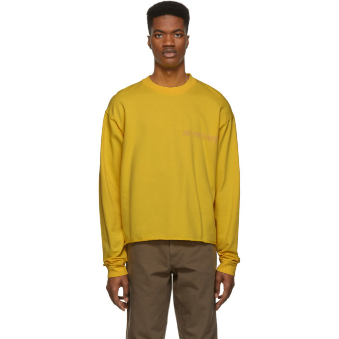 Photo: Nasaseasons SSENSE Exclusive Yellow No Pictures Long Sleeve T-Shirt
