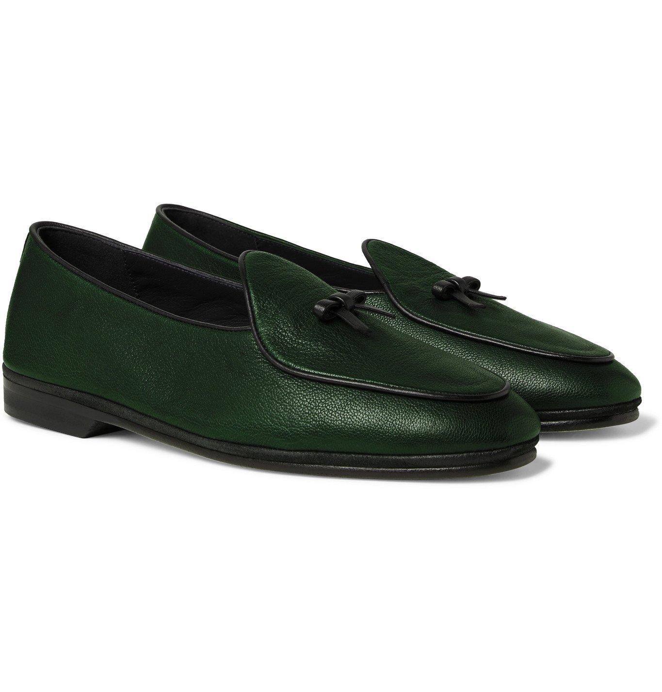 Photo: Rubinacci - Marphy Full-Grain Leather Tasselled Loafers - Green