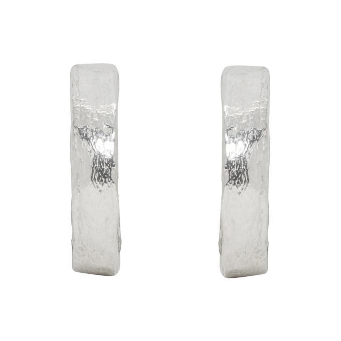 Photo: Pearls Before Swine Silver Textured Hoop Earrings