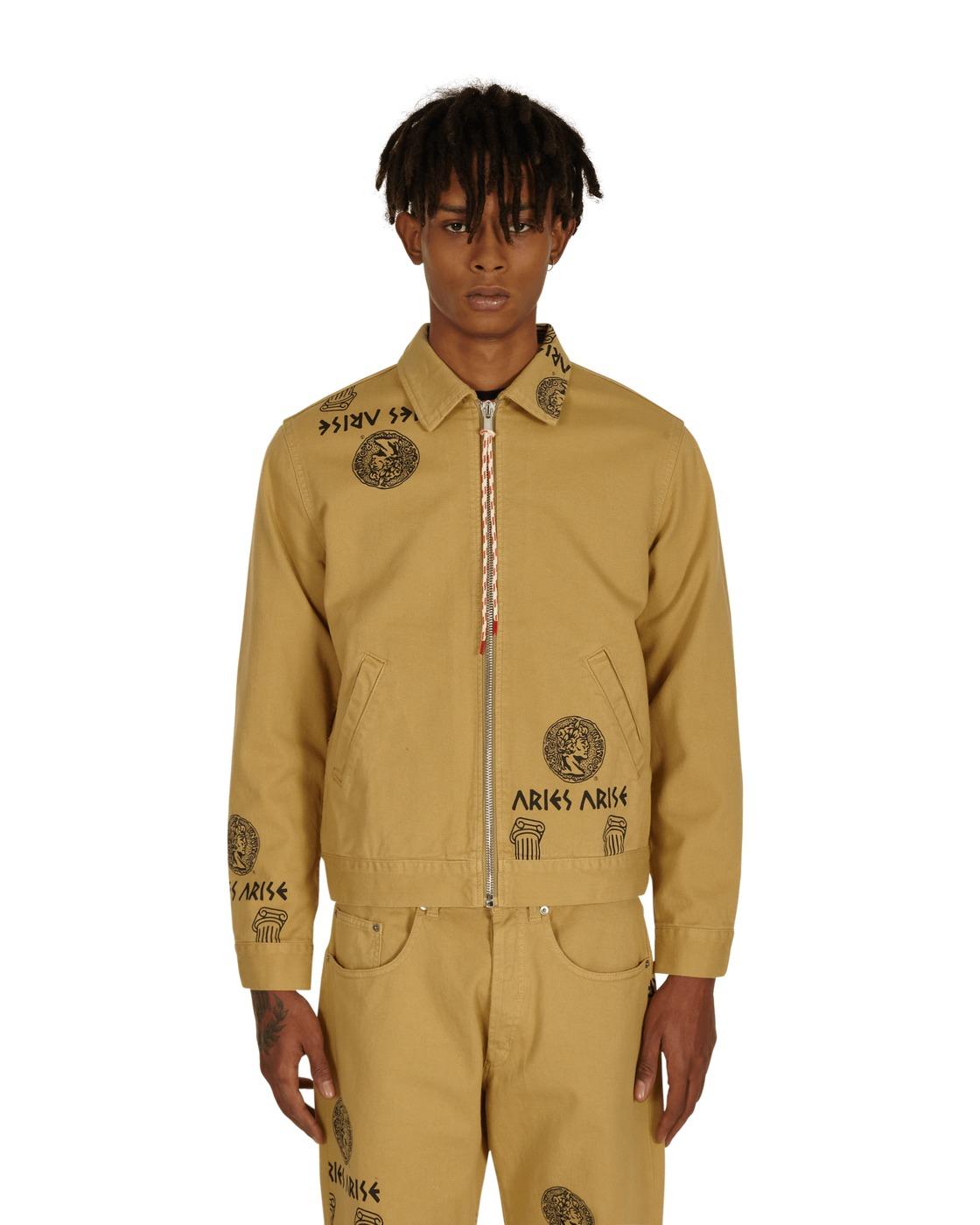 Aries Coin Column Zip Through Jacket Khaki