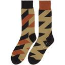 Sacai Beige and Grey Glencheck Socks