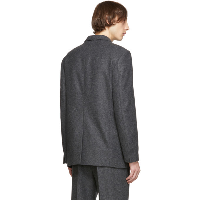 Lemaire Grey Felted Wool Blazer