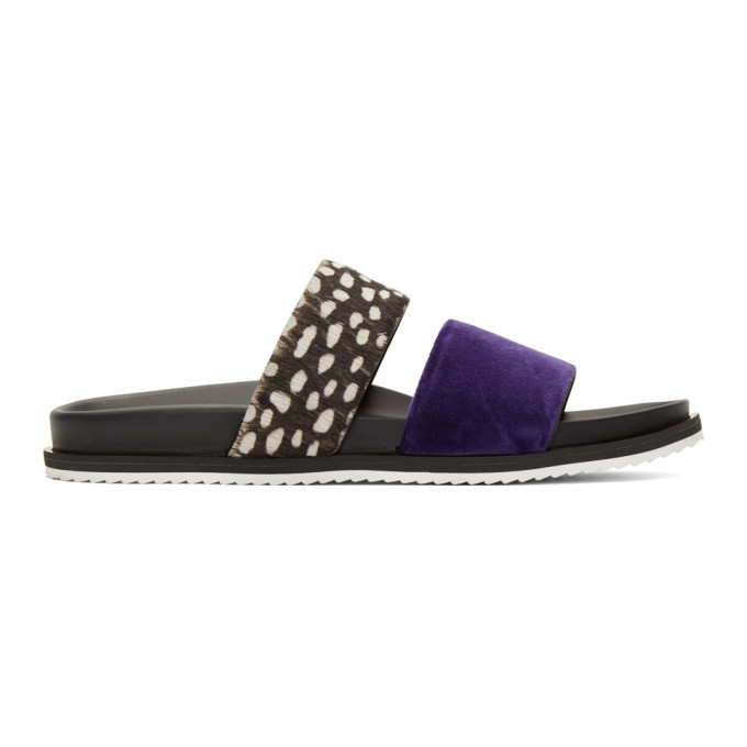 Photo: Haider Ackermann Black and Purple Spotted Sandals