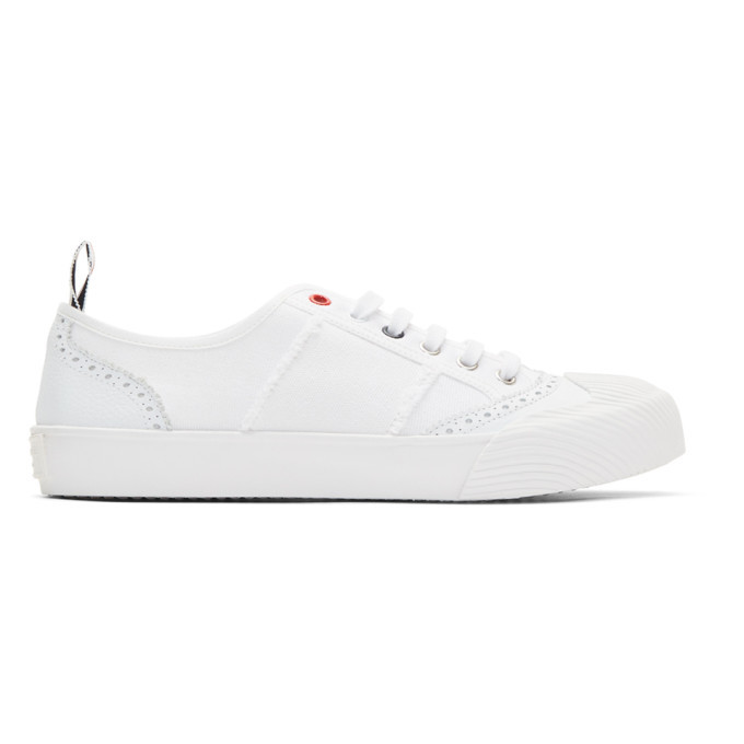 Photo: Thom Browne White Brogued Sneakers