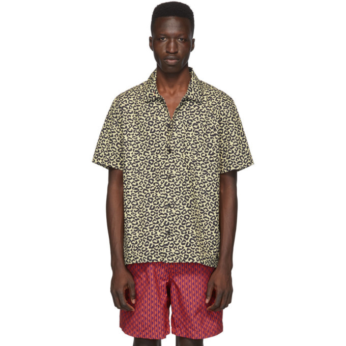 Photo: Solid and Striped Beige Leopard The Cabana Shirt