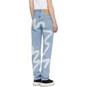 Martine Rose Blue Straight-Leg Jeans