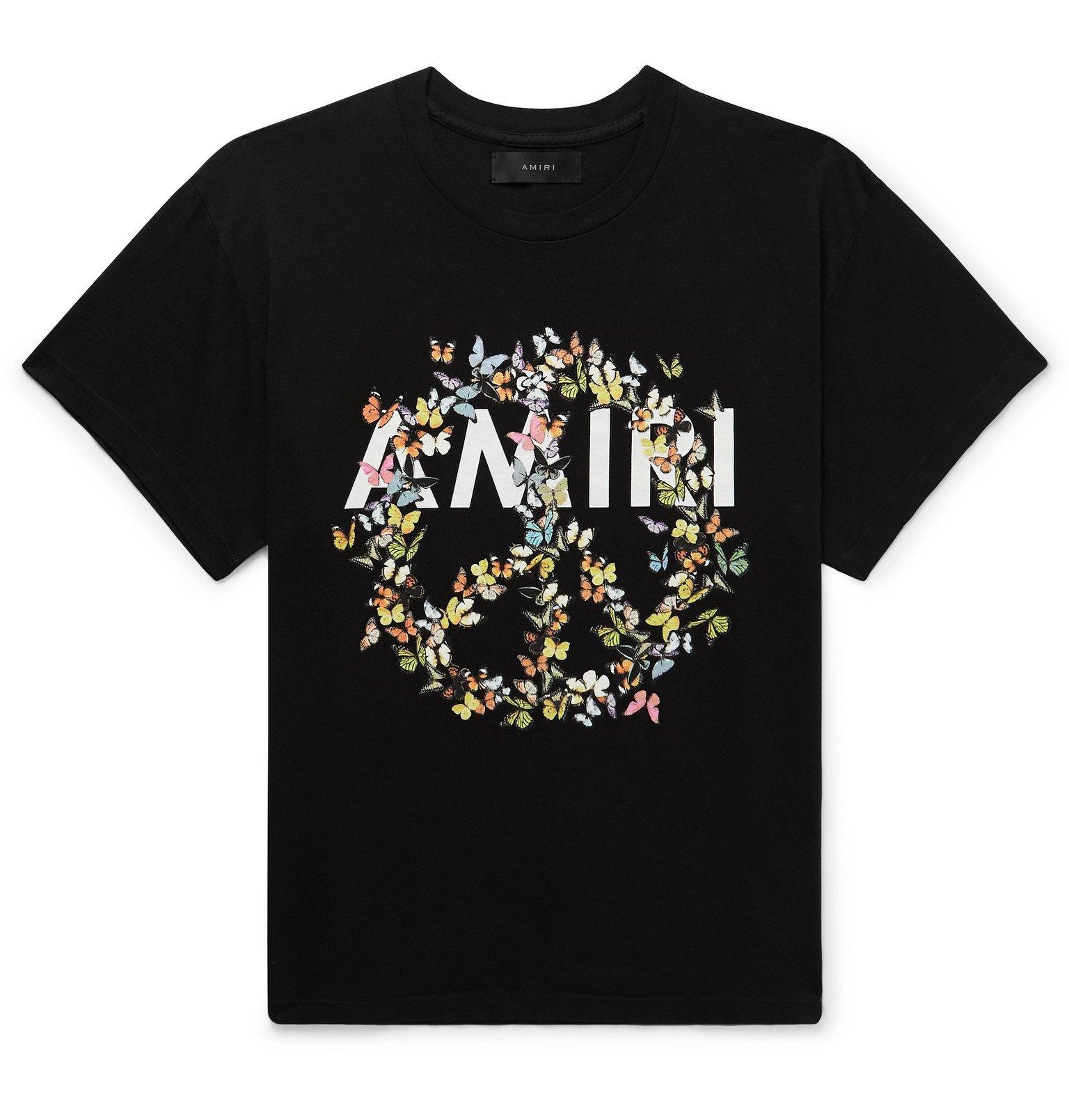 Photo: AMIRI - Logo-Print Cotton-Jersey T-Shirt - Black