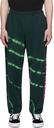 Aries Black & Green Tie-Dye 'No Problemo' Lounge Pants