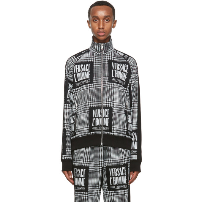 Photo: Versace Black and White Address Plate Track Jacket