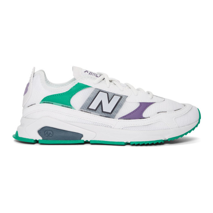 Photo: New Balance White X-Racer Sneakers