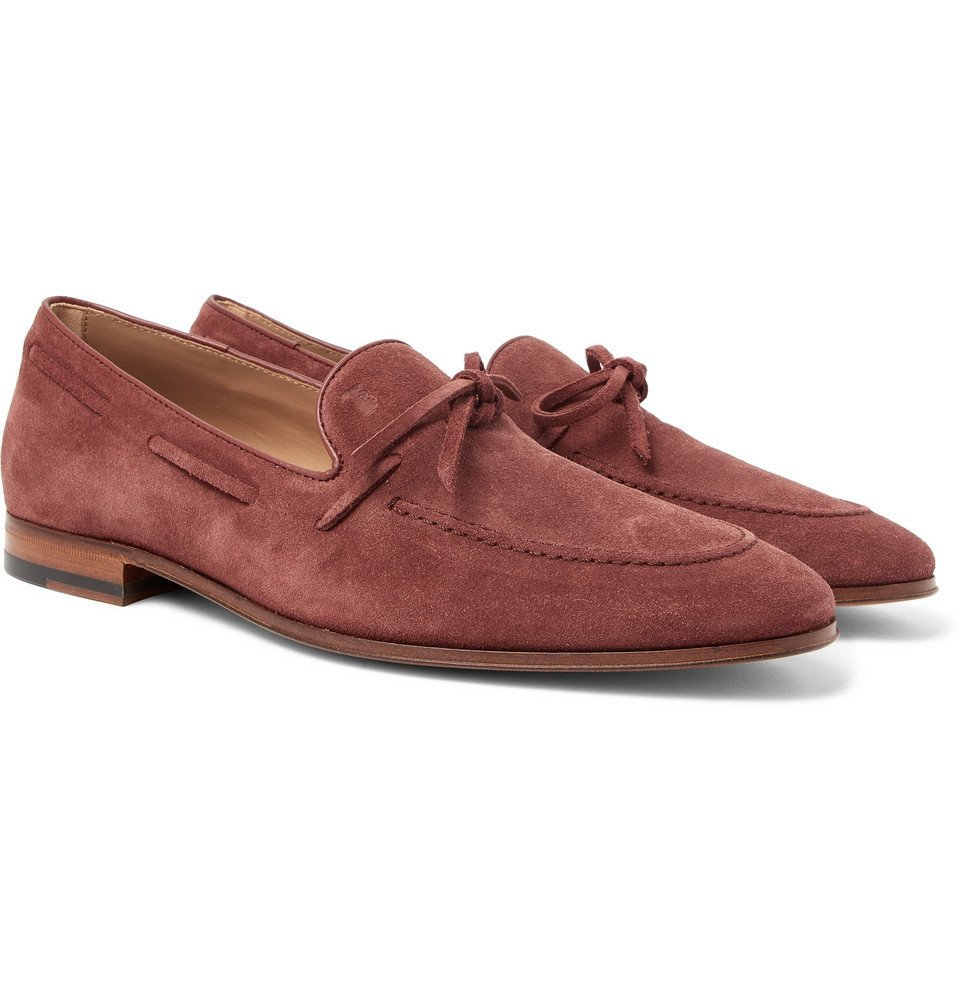 Photo: Tod's - Suede Loafers - Men - Burgundy