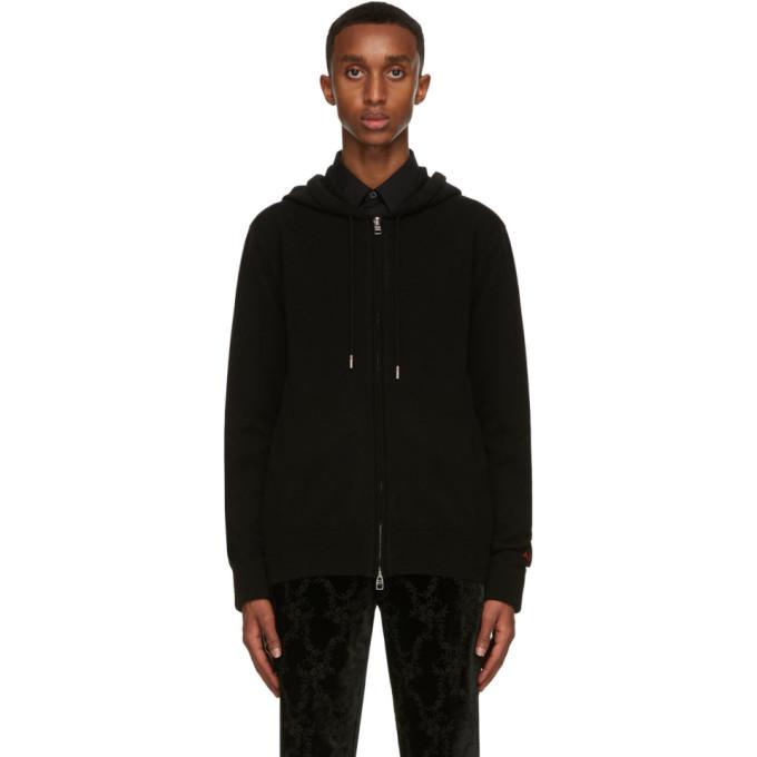 Photo: Alexander McQueen Black Cashmere Zip-Up Hoodie