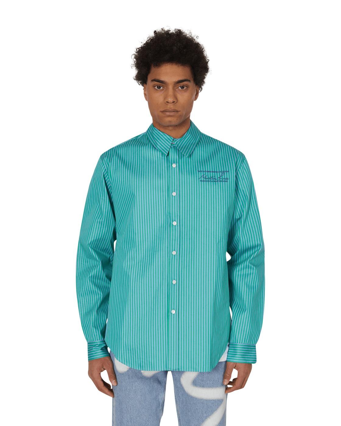 Martine Rose Classic Bonded Shirt Green/Blue