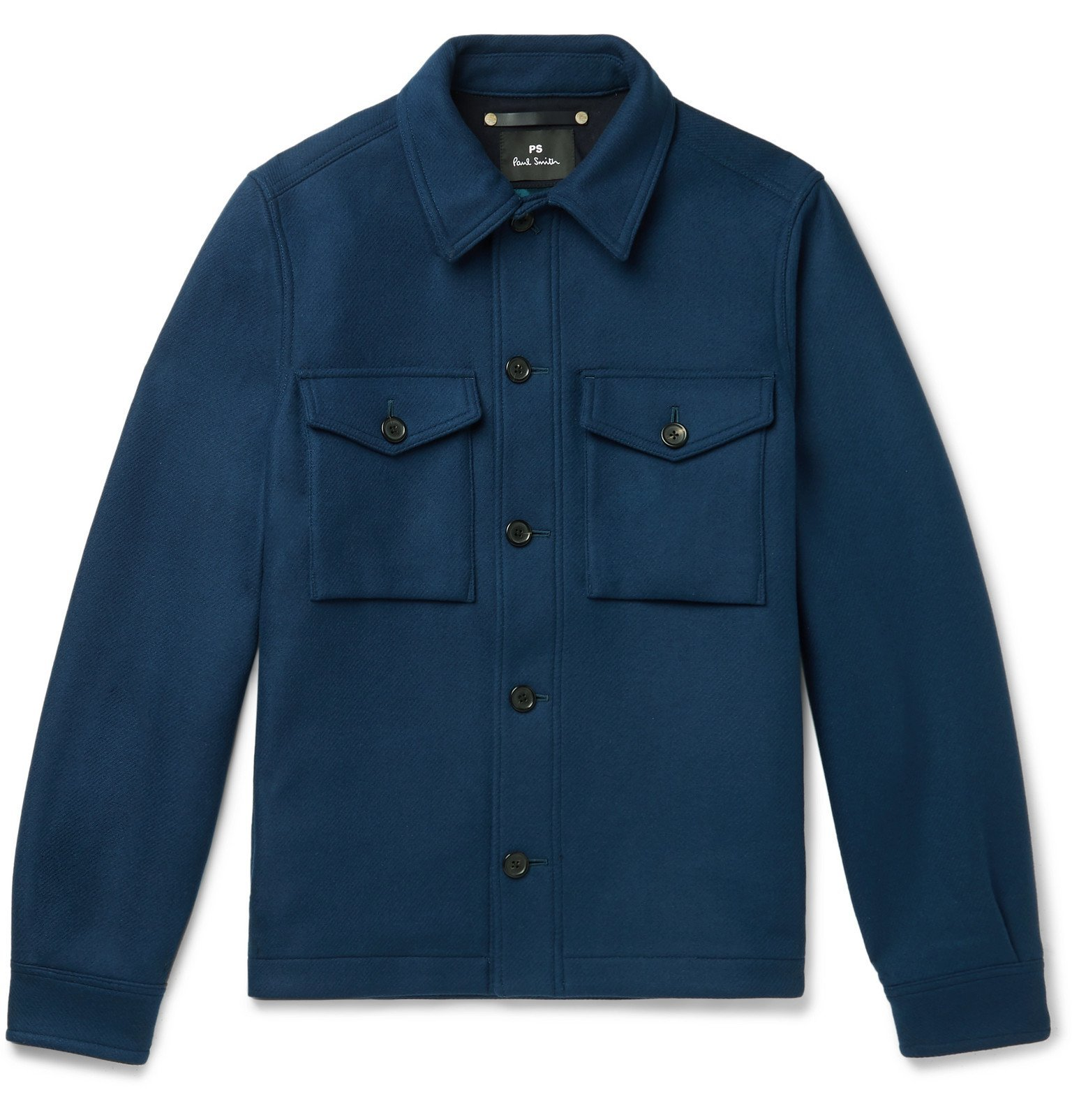 Photo: PS Paul Smith - Wool-Blend Overshirt - Blue