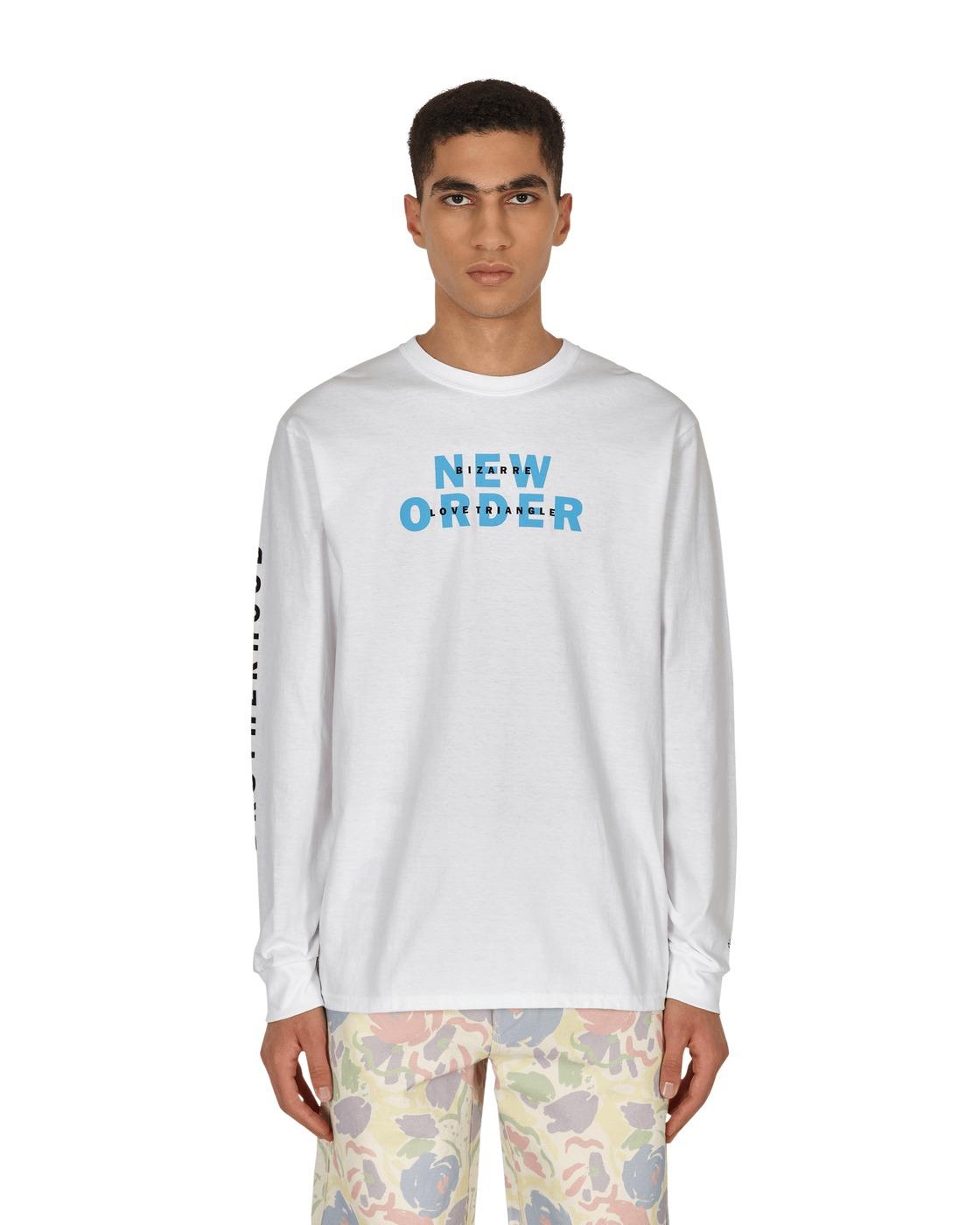 Photo: Noah New Order Bizzare Love Triangle Longsleeve T Shirt White