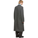 Raf Simons Black and Grey Double-Breasted Big Coat