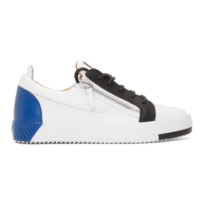 Photo: Giuseppe Zanotti White and Blue Frankie Sneakers