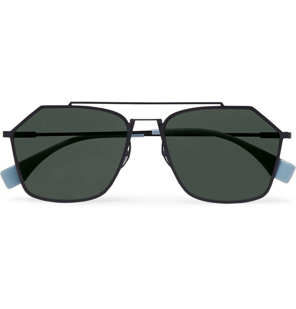 Photo: Fendi - Square-Frame Metal Polarised Sunglasses - Black