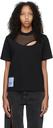 MCQ Black Twisted Regular T-Shirt