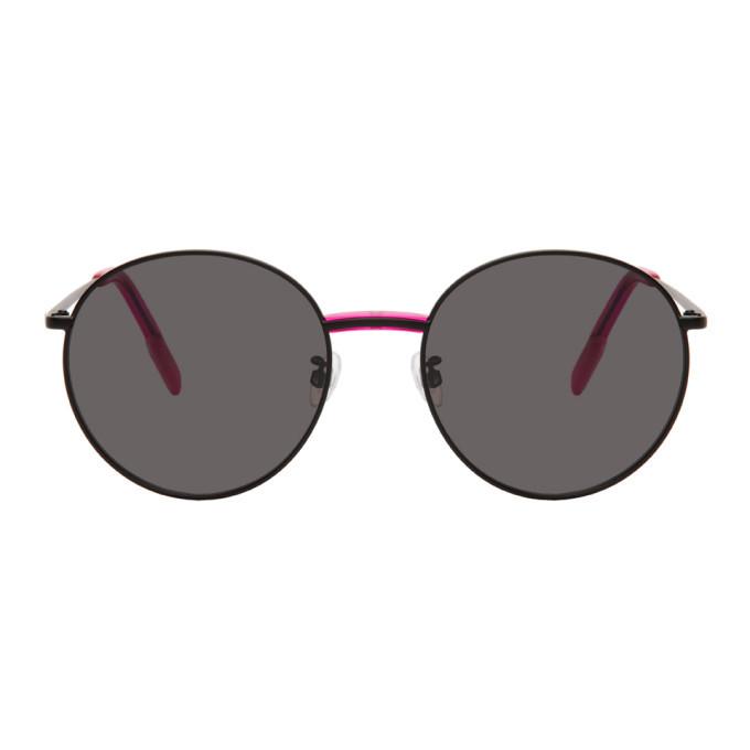 Photo: Kenzo Black Shiny Round Sunglasses