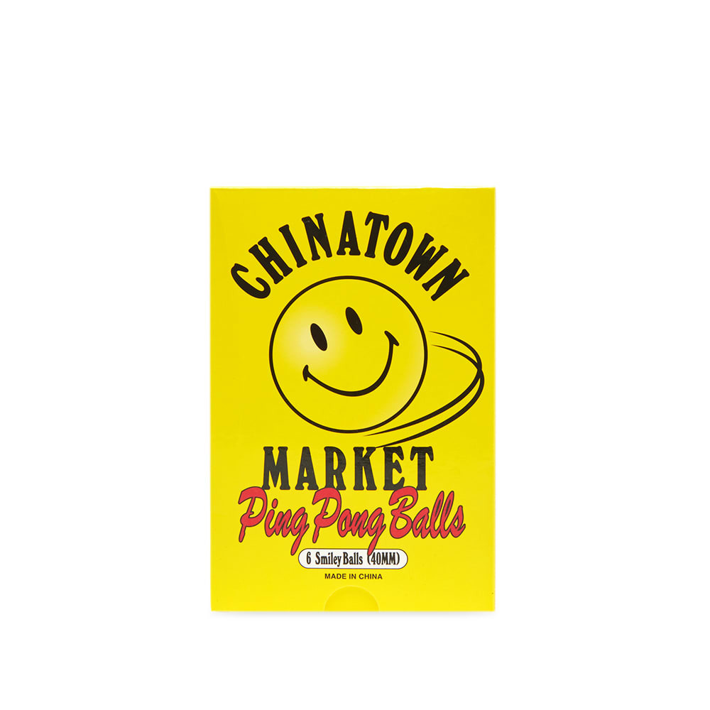 Photo: Chinatown Market Smiley Ping Pong Ball - Pack Of 6
