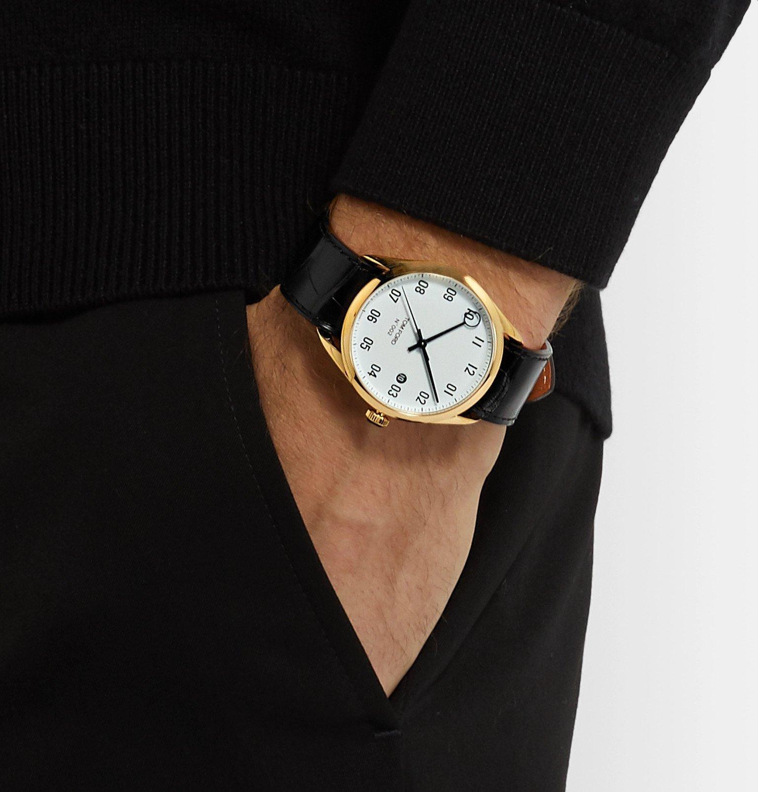 Tom Ford Timepieces - 002 40mm 18-Karat Gold and Alligator Watch - White