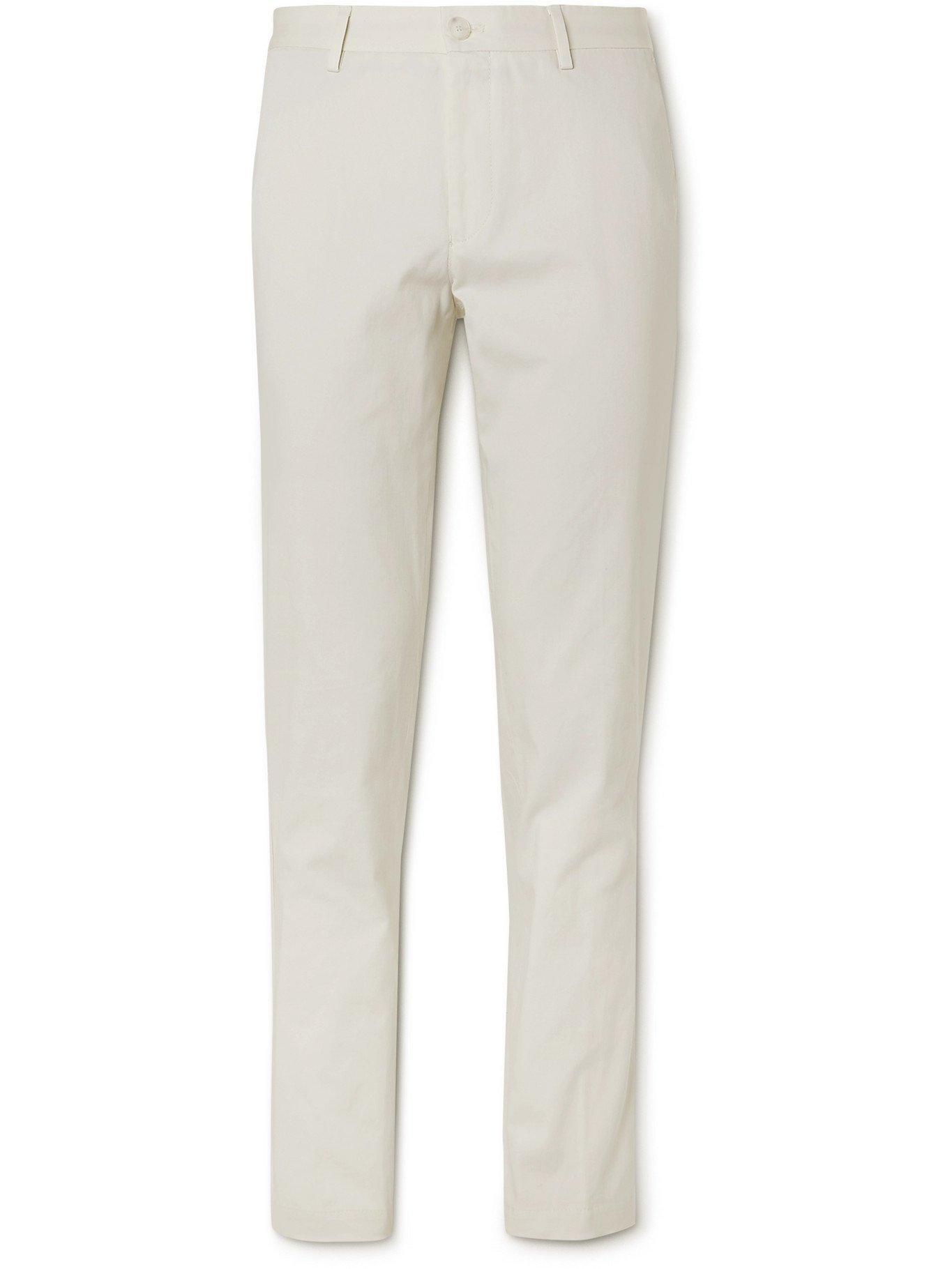 HUGO BOSS - Slim-Fit Cotton Trousers - Neutrals