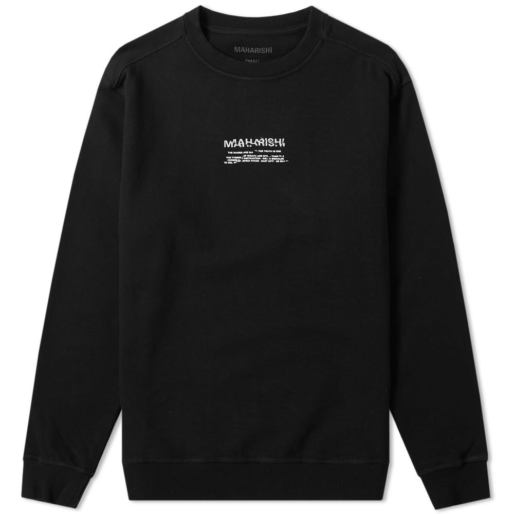 Photo: Maharishi Heaven & Hell Long Crew Sweat