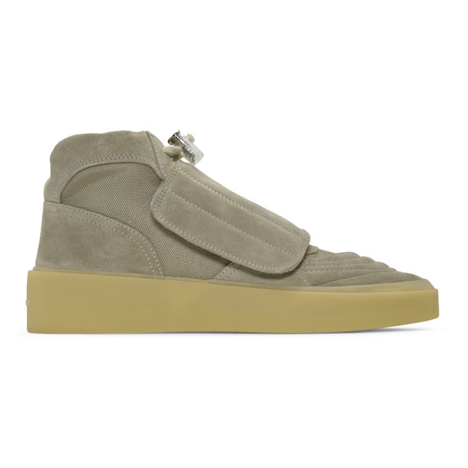 Photo: Fear of God Taupe Skate High-Top Sneakers