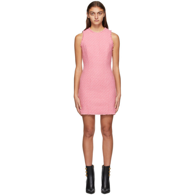 Photo: Balmain Pink Tweed Sleeveless Dress