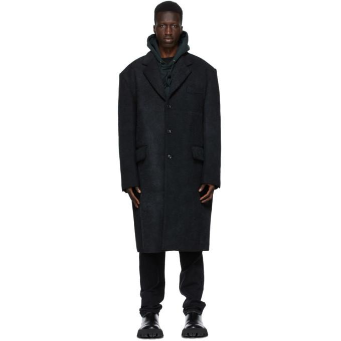 Photo: We11done Black Felted Wool Coat