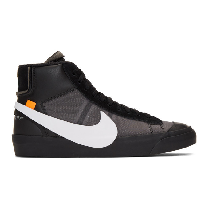 Nike Black Off-White Edition The Ten: Blazer Mid Sneakers