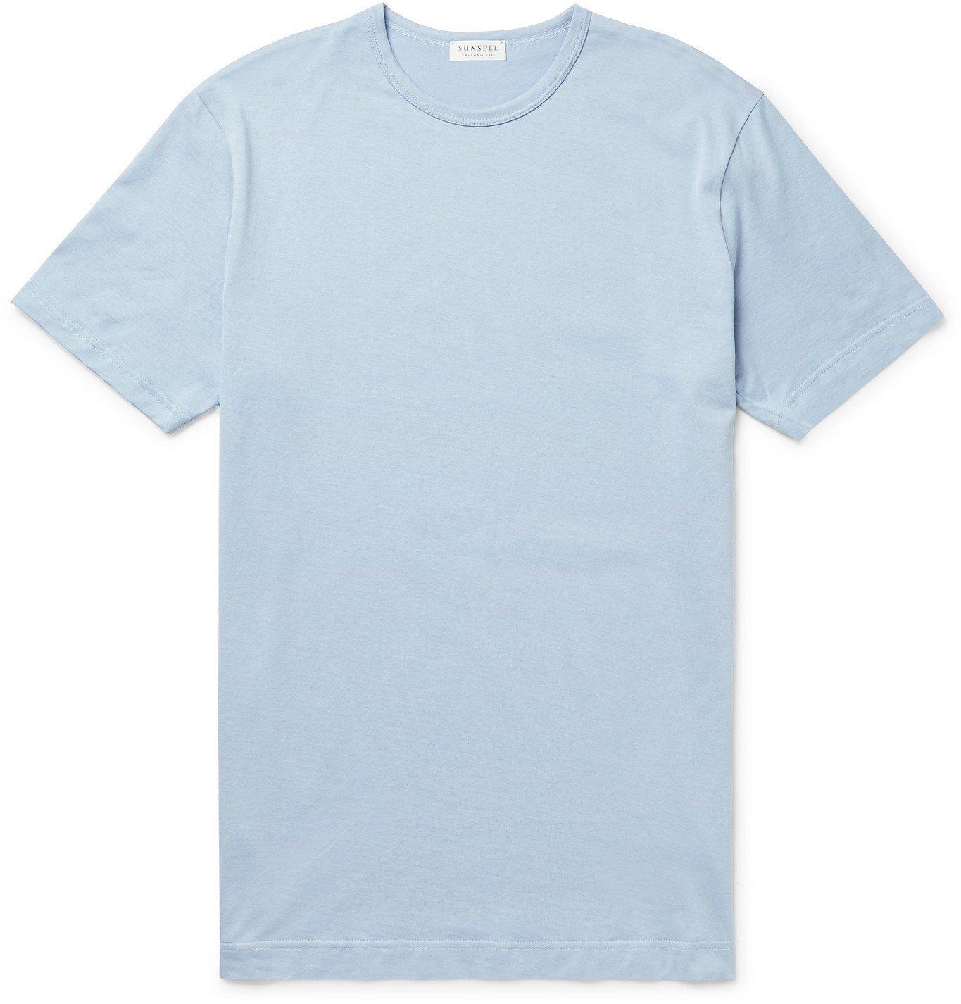 Photo: SUNSPEL - Slim-Fit Cotton-Jersey T-Shirt - Blue