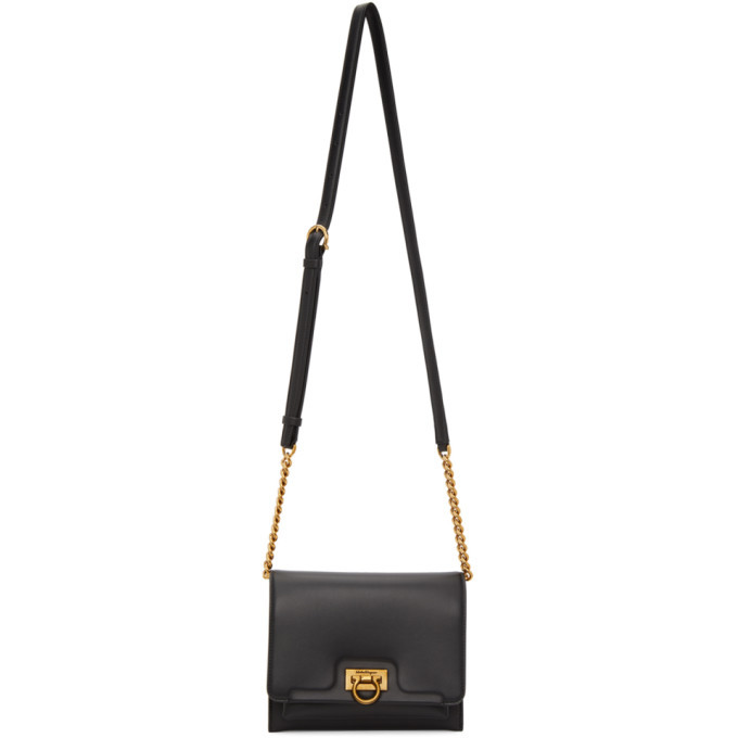 Photo: Salvatore Ferragamo Black Small Trifolio Shoulder Bag