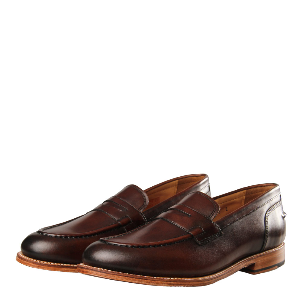 Photo: Maxwell Loafer - Handpainted Brown