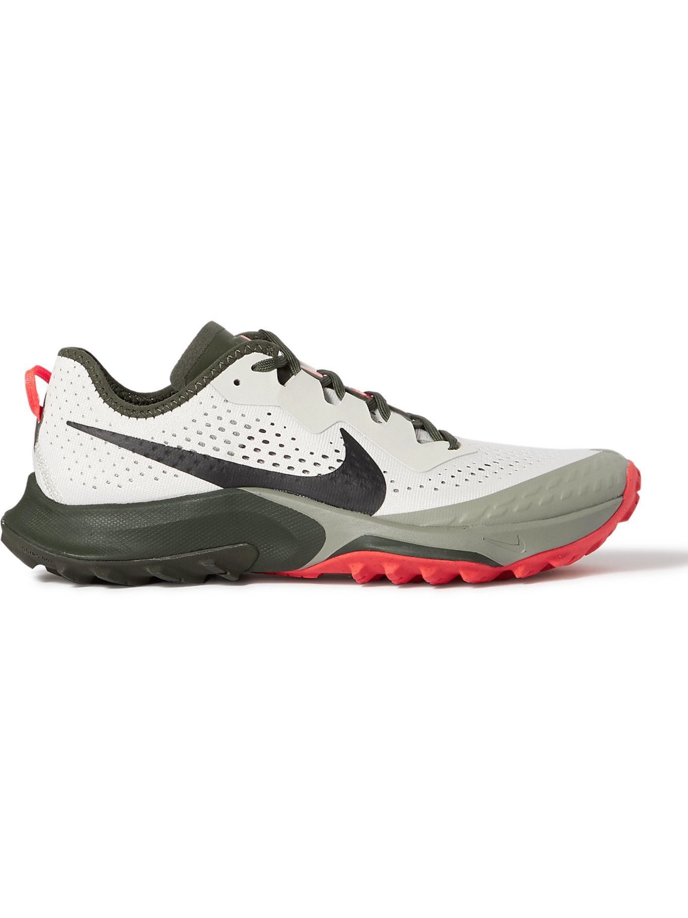 Photo: NIKE RUNNING - Air Zoom Terra Kiger 7 Rubber-Trimmed Mesh Running Sneakers - Neutrals