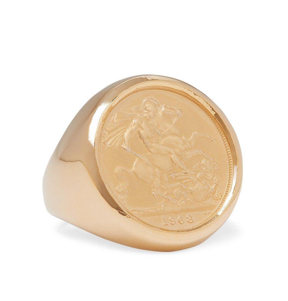 Photo: Bottega Veneta - Gold-Plated Signet Ring - Gold