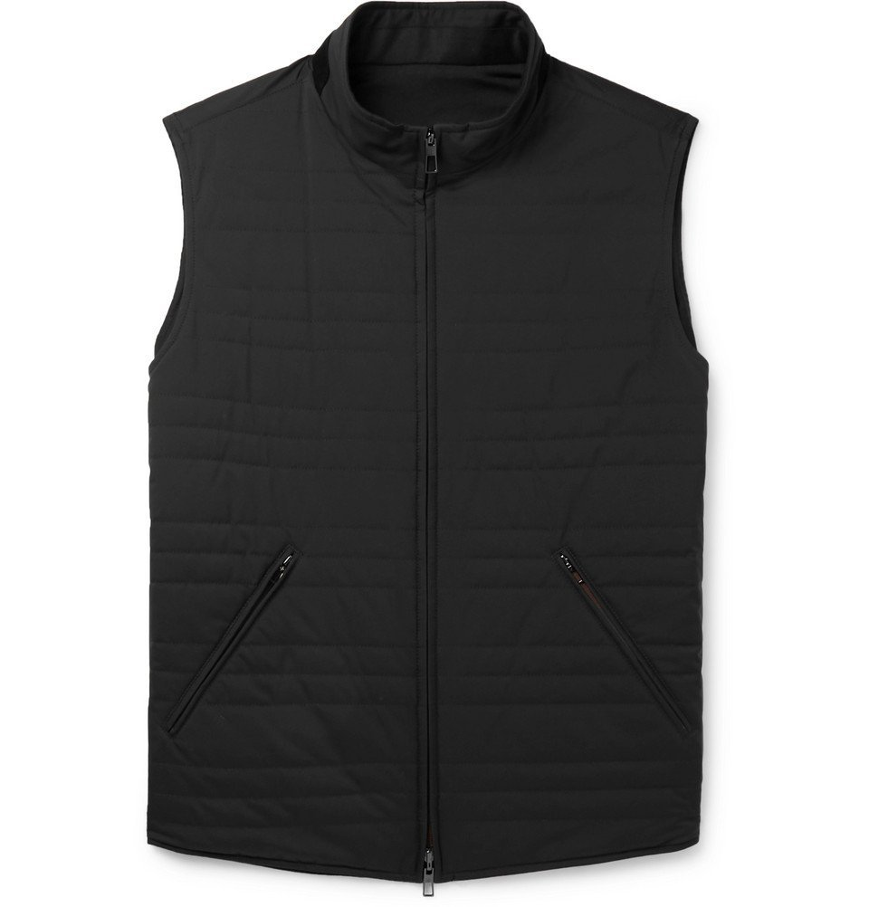Photo: Loro Piana - Reversible Quilted Storm System Shell and Virgin Wool-Blend Gilet - Black