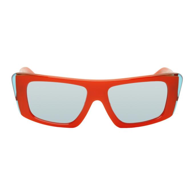 Photo: Alain Mikli Paris Orange and Blue Jeremy Scott Edition A05029 Sunglasses