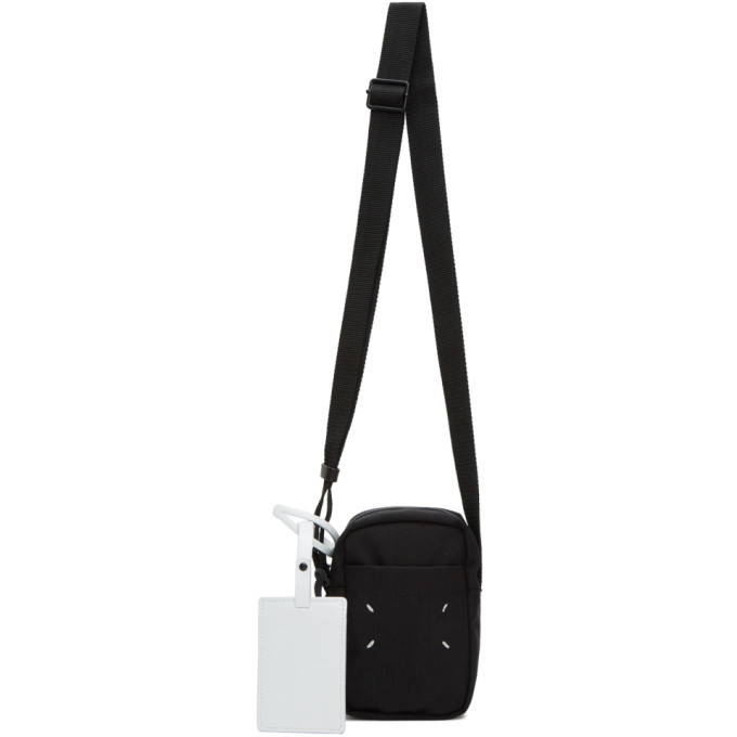 Photo: Maison Margiela Black Canvas Mini Messenger Bag