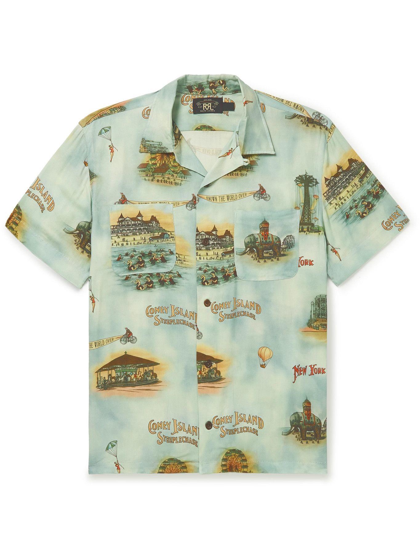 Photo: RRL - Convertible-Collar Printed Woven Shirt - Multi
